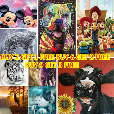 AU10.99 • Buy 5D Diamond Painting Embroidery Cross Stitch Xmas Gift In Discount Mural Decor