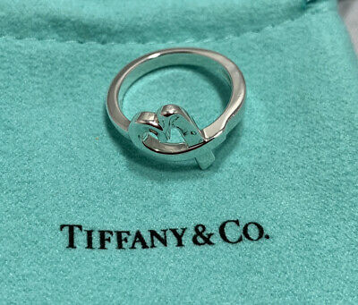 Tiffany & Co. Sterling Silver Paloma Picasso Loving Heart Ring Band • 100.79£