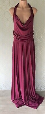 AU35 • Buy Asos Design Pleated Cowl Neck Maxi Backless Dress Size 14 Formal/ Bridesmaids