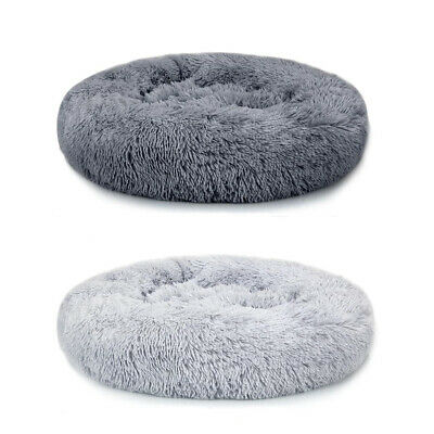 Dog Cat Bed Comfy Calming Warm Pet Round Super Soft Plush Marshmallow Puppy Beds • 19.95£