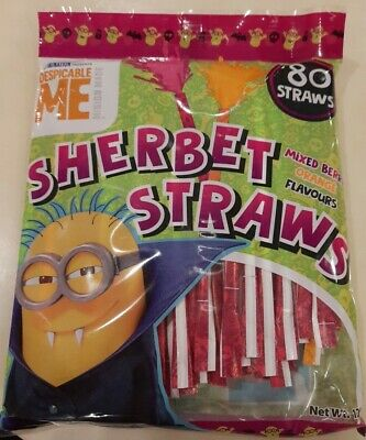 £3.98 • Buy Halloween Treat Or Trick Sweet  Minions Despicable Me Sherbet Straws X 80pk