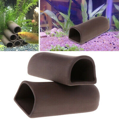 Aquarium D Shape Ceramic Breeding Cave Pleco Fish Clay Shrimp Hide Shelter • 4.89£