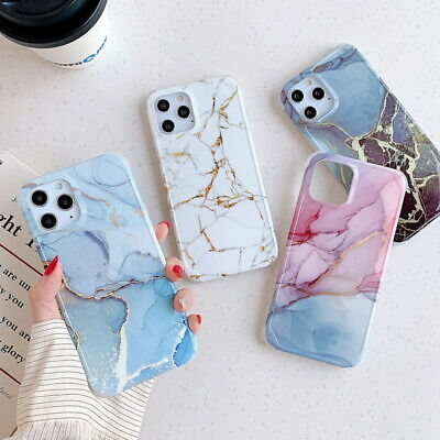 AU7.99 • Buy Marble Phone Case For IPhone 13 Pro Max 12 Pro XS XR X 8 7 Shockproof Hard Cover