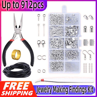 Jewellery Making Findings Kit Wire Pliers Set Starter Tools Necklace Repair Tool • 7.89£