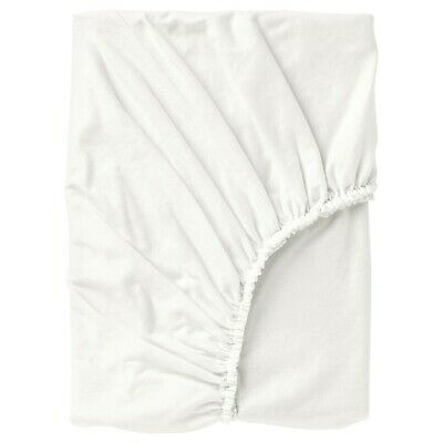 New* NORDRUTA Fitted Sheet, White, Single, Double, King & Super King *Brand IKEA • 20.99£