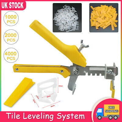 4000PCS Tile Leveling Spacer System Tool Kit Clips Wedges Flooring Lippage Plier • 27.99£