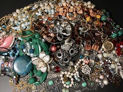 $ CDN52 • Buy Vintage To Modern Junk Drawer Jewelry Lot Wear And Repair Craft Lot Over 1.5lbs