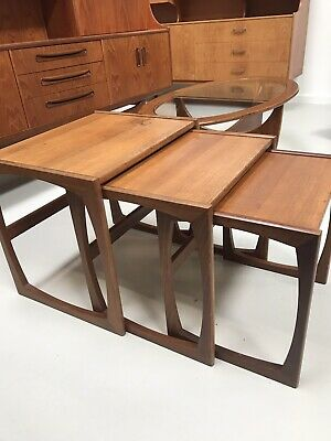 G Plan Nest Of Three Tables - 1970's Vintage   Quadrille Model   • 1.04£