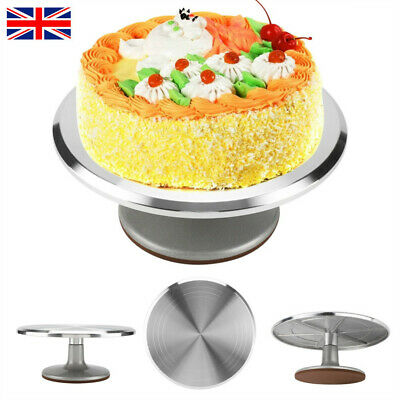12'' Cake Turntable Aluminum Revolving Stand Holder Pastry Baking Decor Tool UK • 18.68£