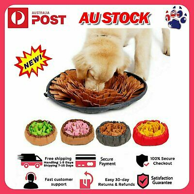 AU24.51 • Buy Pet Educational Toys Dog Snuffle Stress Puzzle Bowl Washable Smell Training Mat