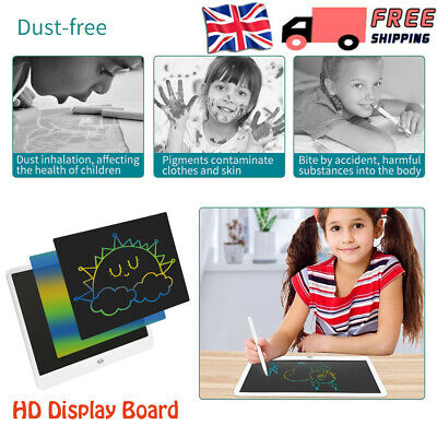 15'' Digital Electronic LCD Writing Drawing Tablet Pad For Kids Graphics Notepad • 15.98£
