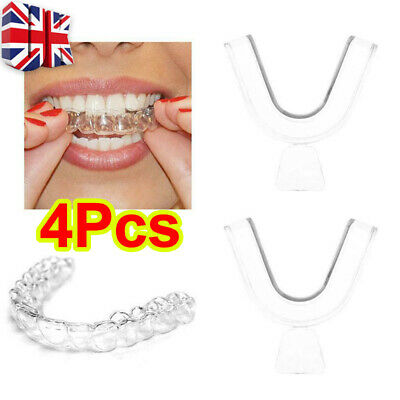 4X Gum Shield Teeth Whitening Mouth Trays Guard Reusable Bleaching Grinding.UK • 4.75£