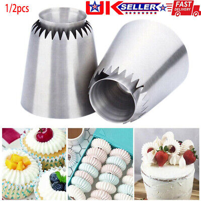 Russian Pastry Icing Piping Nozzles Stainless Steel Decorating Tip Cake Cupcake • 6.99£