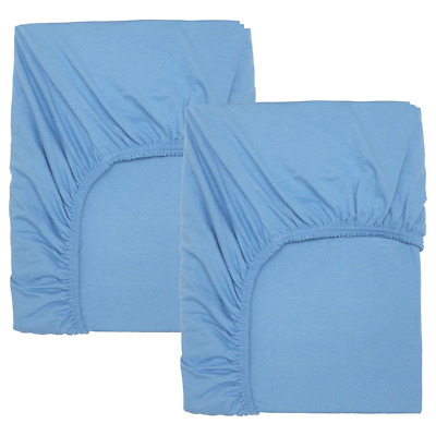 *New* LEN Fitted Sheet For Cot, Light Blue, 70x140 Cm 804.271.07 *Brand IKEA* • 19.99£