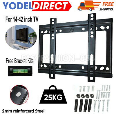 Universal TV Wall Mount Bracket Flat For 14-42  Monitor Holders Plasma LCD LED • 5.49£