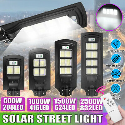 500W-2500W Street Light Wall Solar Powered Road Lamp Motion Path W/ Remote  • 36.49£