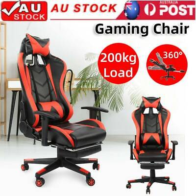 AU129.99 • Buy Gaming Chair Office Computer PU Leather Chair Racer  Racing Seat 200kg