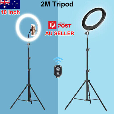 AU31.19 • Buy 10  Selfie LED Ring Light With Tripod Stand For Youtube Phone Live Stream Makeup