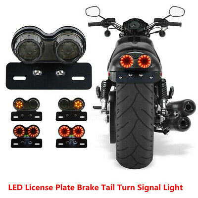 $27.99 • Buy Motorcycle Dual LED Integrated Light Turn Signal Brake Light Rear Driving Lamp