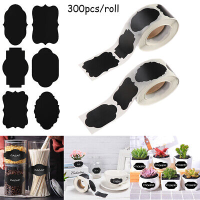 Self-adhesive Jam Jar Bottle Tags Chalkboard Blackboard Label Labels Stickers • 5.38£