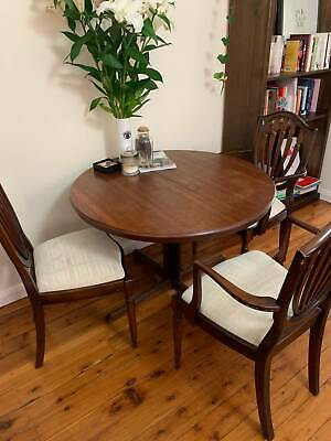 AU1000 • Buy Vintage Chiswell Extendable Round Dining Table With Upholstered Chairs