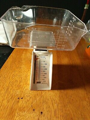 Vintage Hanson Diet Scale Measures In Grams & Ounces With Tray • 4.37£