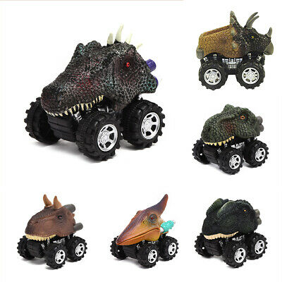 Kids Children Toy Pull Back Dinosaur Animal Car Toys With Big Tire Wheel Xmas • 2.99£