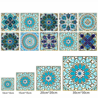 £4.90 • Buy Retro Moroccan Self-adhesive Waterproof Tile Stickers For Kitchen Home 10-50pcs