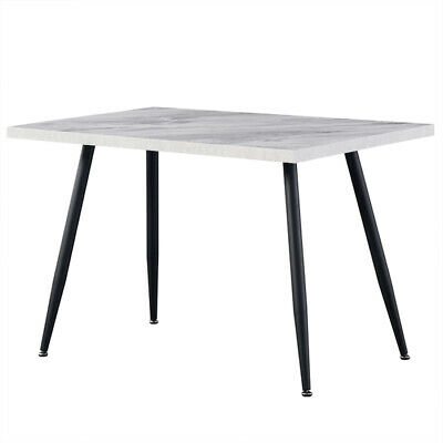 AU199 • Buy 1x Dining Table Faux Marble White Look Black Steel Leg For Dining Home Office