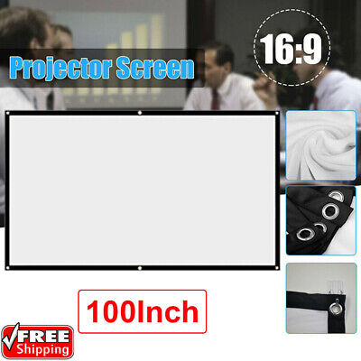 £10.09 • Buy 100 Inch Projector Projection Screen Film 16:9 Matte HD Home Cinema Theater