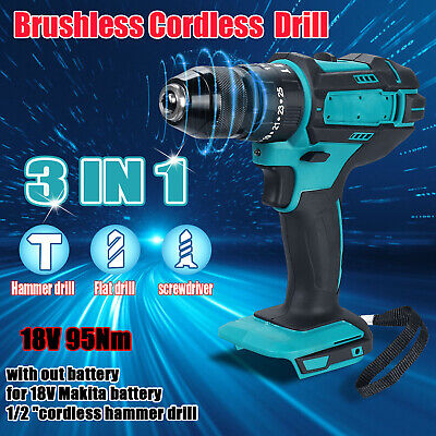 £26.99 • Buy 3 IN 1Replace For MAKITA 18V Cordless Impact Driver 1/2  Hammer Drill