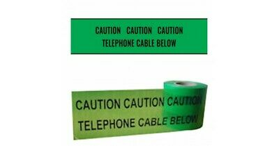 Telephone Utility Cable Marker Tape Underground Services Dig Danger Ducting  • 3£