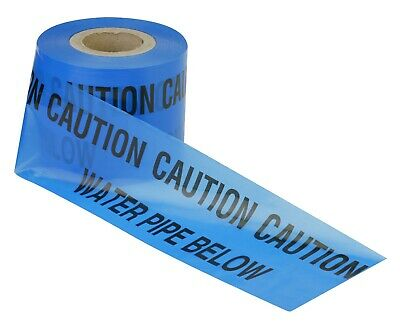 Water Pipe Utility Cable Marker Tape Underground Services Dig Danger Ducting  • 3£