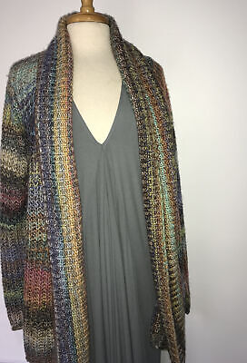 $ CDN80.22 • Buy NEW Anthropologie Colorful Stripe Open Front Knit Cardigan Sweater Size Small