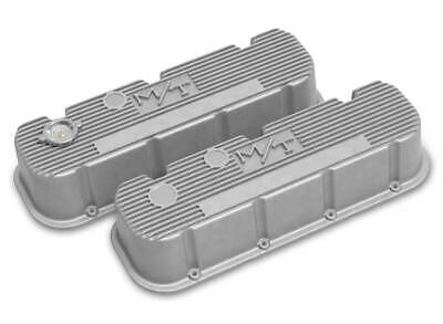 $284.95 • Buy Holley 241-150 Natural Tall Finned M/T Valve Covers For Big Block Chevy Engines