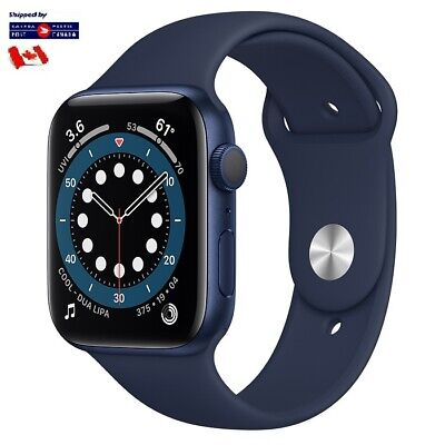 $ CDN3.99 • Buy For Apple Watch Band Replacement Silicone Blue 42/44 S/M Series 1 2 3 4 5 6