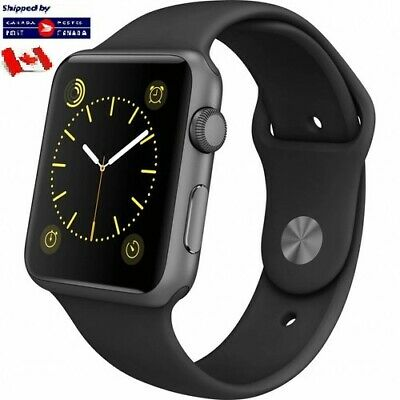 $ CDN3.99 • Buy For Apple Watch Band Replacement Silicone Black 42/44mm S/M Series 1 2 3 4 5 6