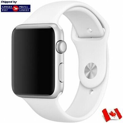 $ CDN3.99 • Buy For Apple Watch Band Replacement Silicone White 42/44mm S/M Series 1 2 3 4 5 6