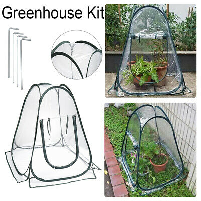 Portable Propagator Cloche Folding Greenhouse Flowers Cover Pop Up Plants  Tent • 20.81£