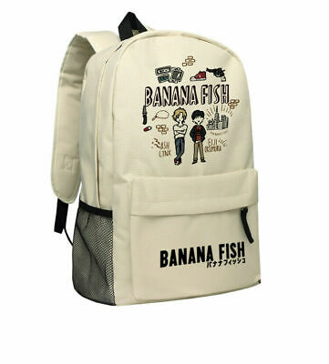 Banana Fish Ash Lynx Cartoon Backpack Laptop Men Women Cosplay Oxford School Bag • 23.99£