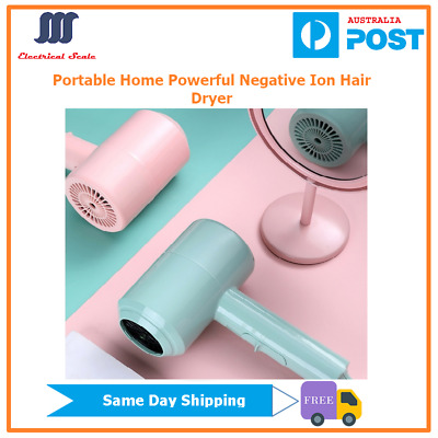 AU24.99 • Buy Portable Home Powerful Negative Ion Hair Dryer For Travelling