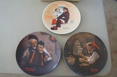 $ CDN34.36 • Buy Knowles 3 Different Norman Rockwell Collector Plates W/ Santa FREE SHIP Used