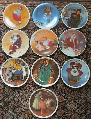 $ CDN44.66 • Buy 10 Norman Rockwell Knowles Plates Christmas & Mother's Day 1980-87 EXC!
