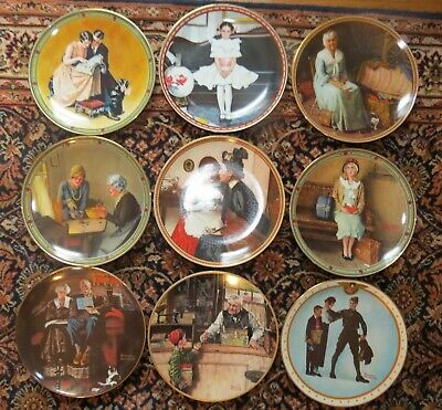 $ CDN38.21 • Buy 9 Norman Rockwell Knowles Collector Plates EXC!!