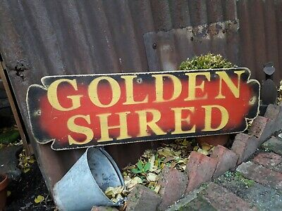 £40 • Buy GOLDEN SHRED Shop Sign Display Mancave Vintage Restaurant CADBURYS RETRO