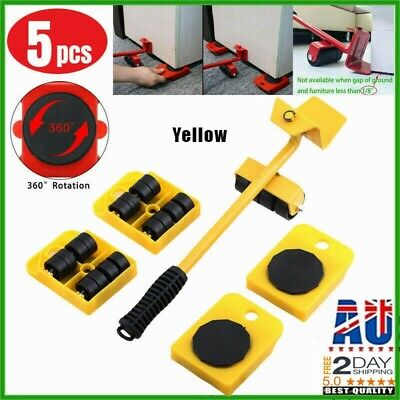 AU17.77 • Buy Heavy Furniture Moving System Lifter Kit With 4Pcs Slider Pad Roller Move Tool