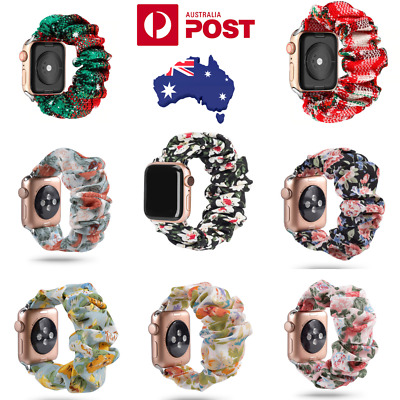 AU12.95 • Buy Scrunchie Straps Bands For Apple Watch Band Series 6 5 4 3 2 1 In Elastic, Soft