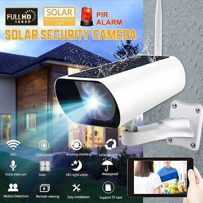 £59.99 • Buy HD 1080P WiFi Solar Powered Energy Security IP Camera Wireless Home CCTV Outdoor