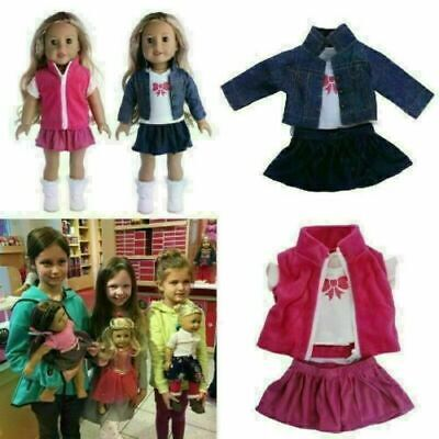 Doll Clothes Dress Outfits Pajames Xmas For 18 Inch American Girl Our Generation • 5.99£