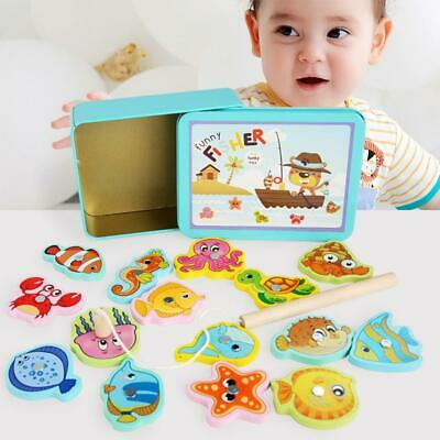 £7.40 • Buy Wooden Magnetic Fish Toys Kids Educational Fishing Magnet Puzzle Game Gifts